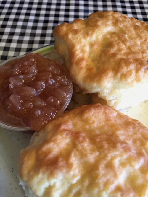 Biscuits and apple sauce, Moose Cafe, Asheville