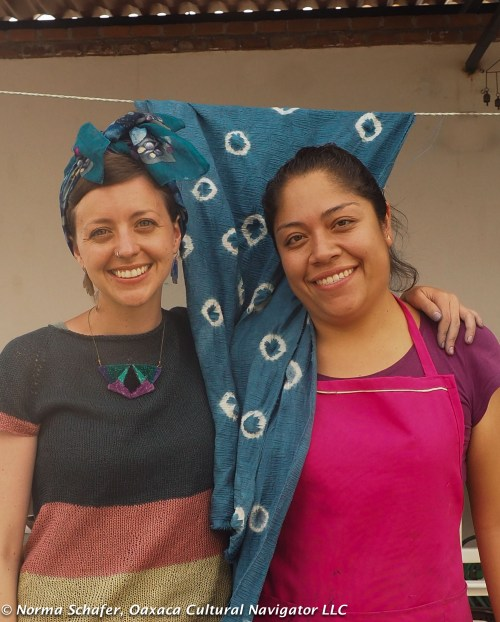 Rhiannon and instructor Elsa at the end of the three-day workshop