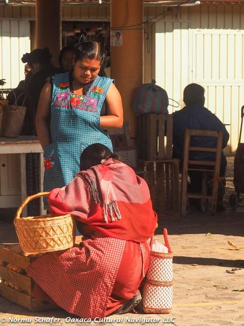 Mango vendor with an abundant supply.