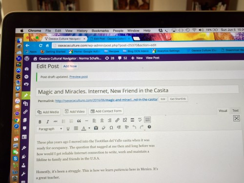 Screen shot. Five bar connection, first draft
