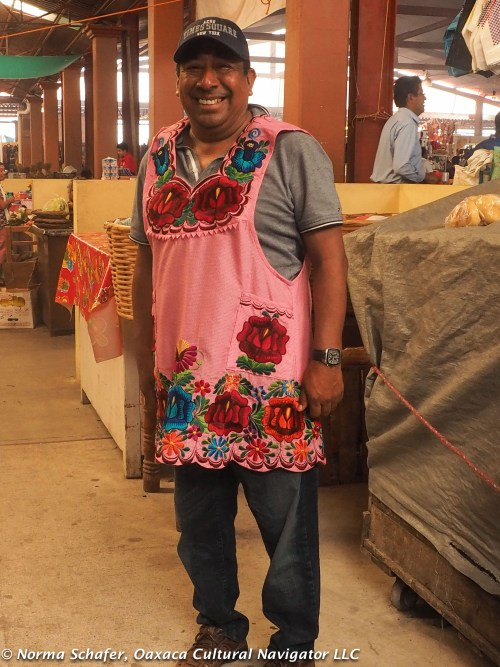 He likes to cook, too. Having fun in the Tlacolula market.