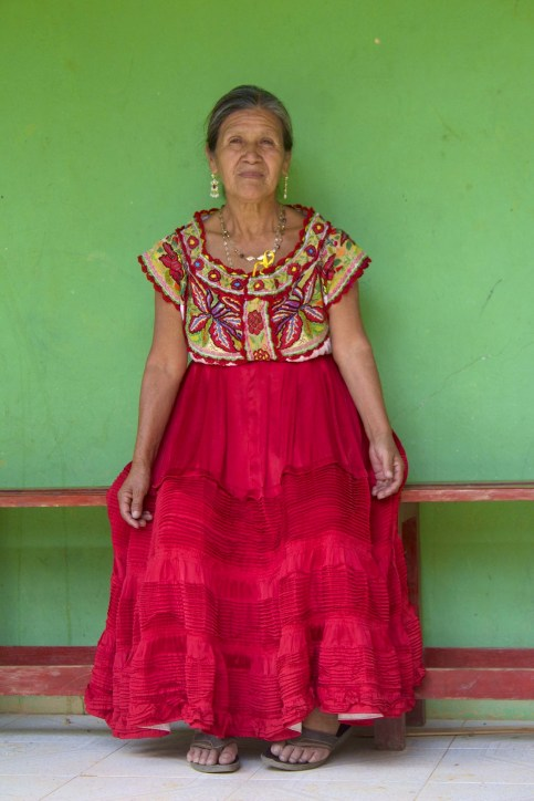 Chatina woman wears extraordinary embroidered blouse. Photo from Barbara Cleaver.