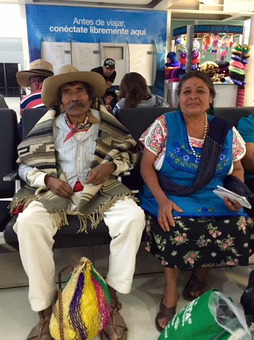 Don Jose Garcia and wife Reyna at Mexico City airport