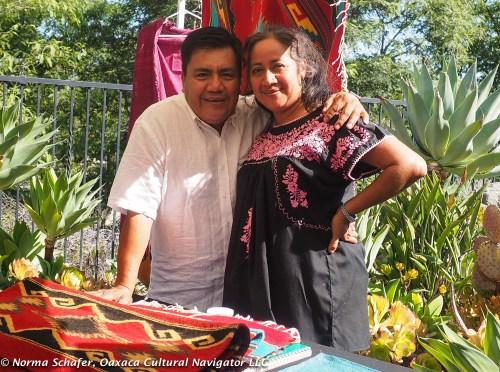 Pedro Mendoza and Carina Santiago from Teotitlan del Valle, in San Diego, CA