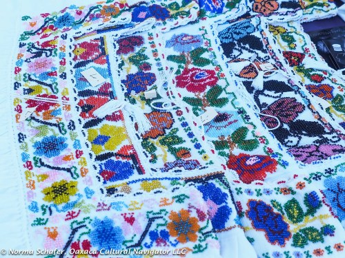 Hand-beaded blouses from Puebla, Merry Foss artisan cooperative