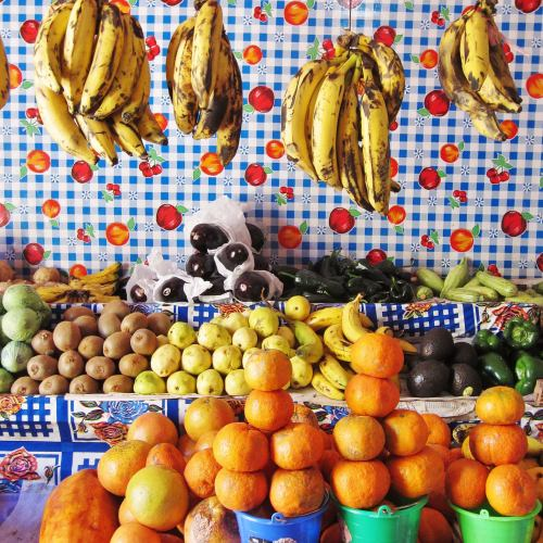Ana Paula Fuentes, Fruit and Tablecloth