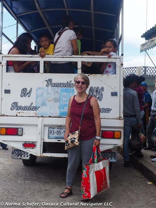 Using local transportation in and around Cuetzalan, Puebla