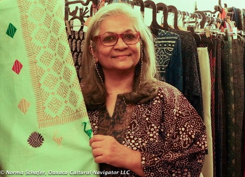 Sunaina Suneja, known as Dimple, in her textile gallery.