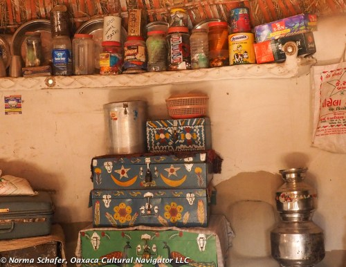 Hand-painted dowry chests, Wandh village