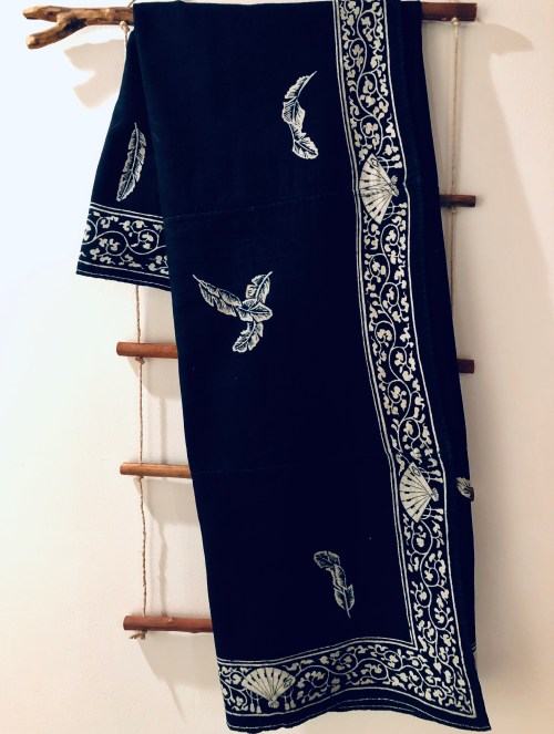 b1c7c28b81f Vintage indigo cotton cloth