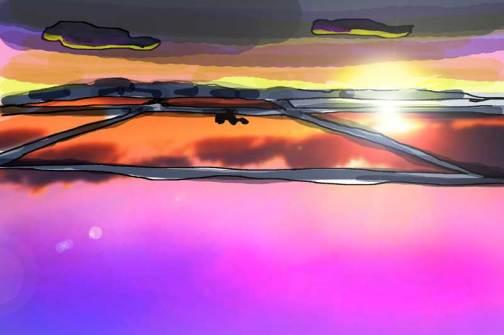 田鏡 夕焼けなんかも美しいですけど、これ、操作者当人に見えてるかどうかはギモンに思えてきました
