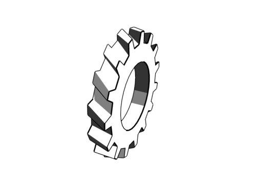 トラクタータイヤの紙工作、ペーパークラフト
