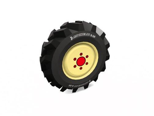 トラクタータイヤのペーパークラフト