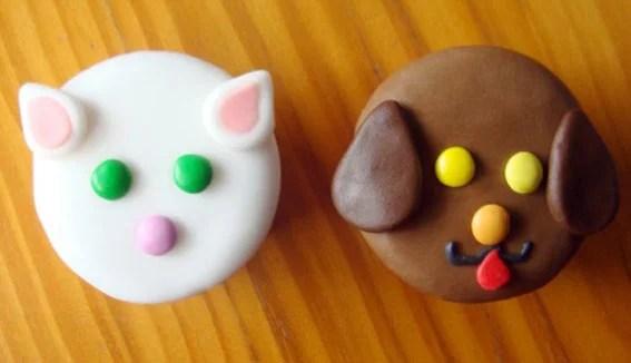 cupcake gato e cachorro