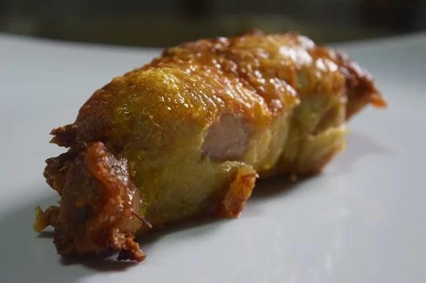 Coxa de frango recheada