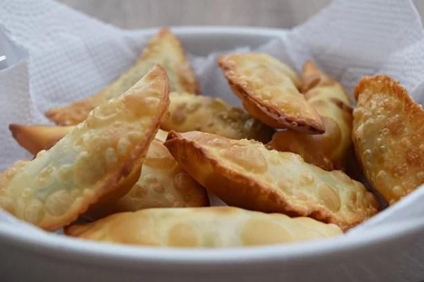 Pastel de espinafre, gorgonzola e Jamon