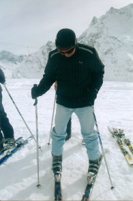 Dr. Obaid Busit skiing in Russia