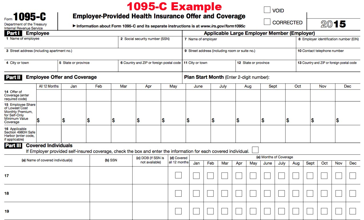 2015 1095 Tax Form - 1095-A, 1095-B and 1095-C Tax Filing ...