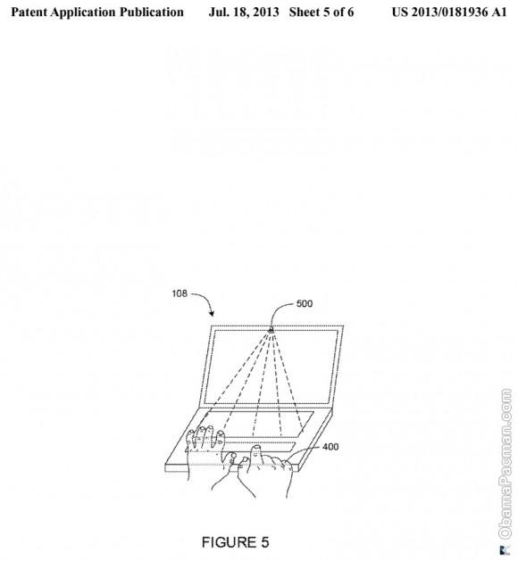 Google 2012 USPTO patent application 20130181936 copied