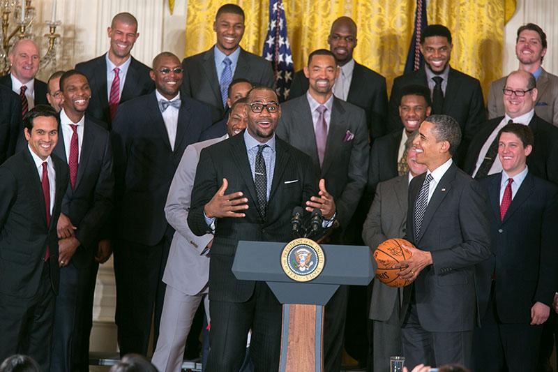 President Obama Welcomes the Miami Heat to the White House ...