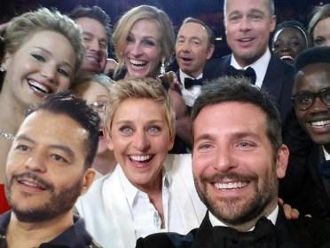 Aplicativo permite que usuário insira sua imagem no selfie do Oscar
