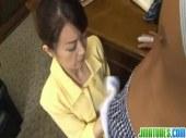 五十路熟女秘書が社長室で性欲管理の為にエロご奉仕しているオバチャンノ-パン