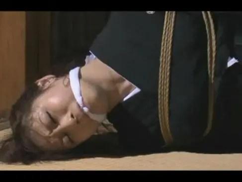 喪服未亡人が鬼畜な義父に緊縛調教される!天井から吊るされおまんこを弄られまくるjyukujo村