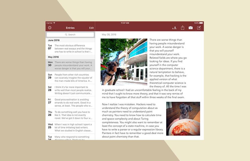 Chronicle Journaling App