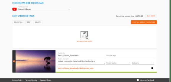 audioship.io interface