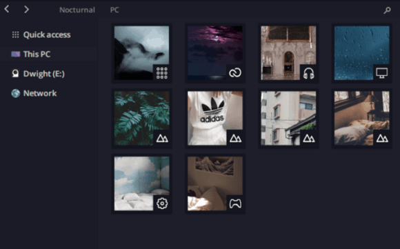 nocturnal theme windows 10