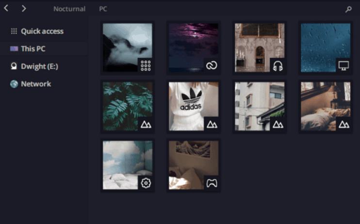 nocturnal theme windows 10