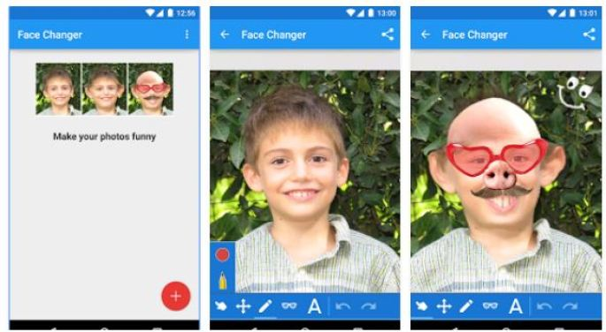funny faces apps android