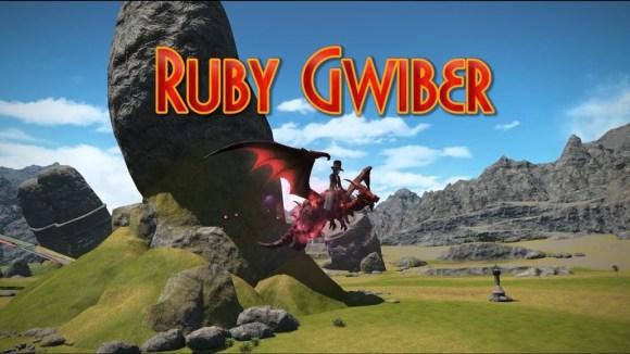 FFXIV: Ruby Gwiber Mount - YouTube