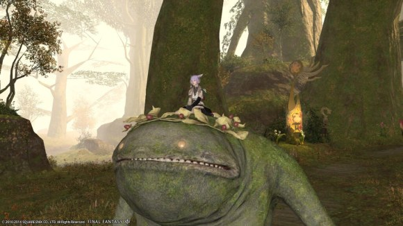 Riding Laurel Goobbue | ✿ Obtained Laurel Goobbue mount ✿ Li ...