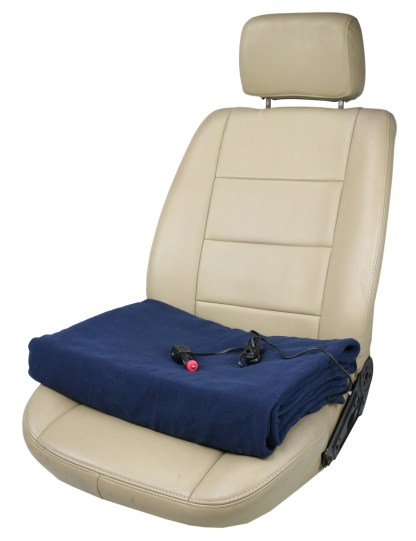 Deluxe Electric 24V 60W Heated Travel Blanket with Premium Plug for Truck, Van, Boat