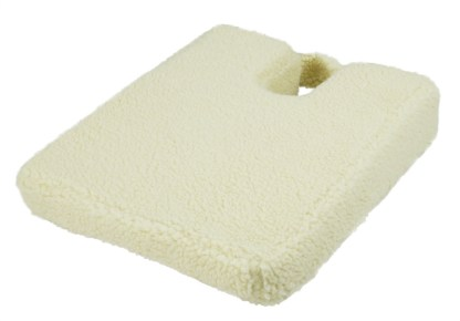 Wedge Cushion with Coccyx Cut-Out, Fleece Cover