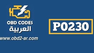 P0230 – دارة مضخة الوقود الرئيسية