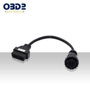 scania 16 pin round to 16 pin obd adapter a