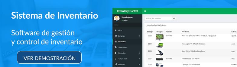 Sistema de Gestión y Control de Inventario PHP