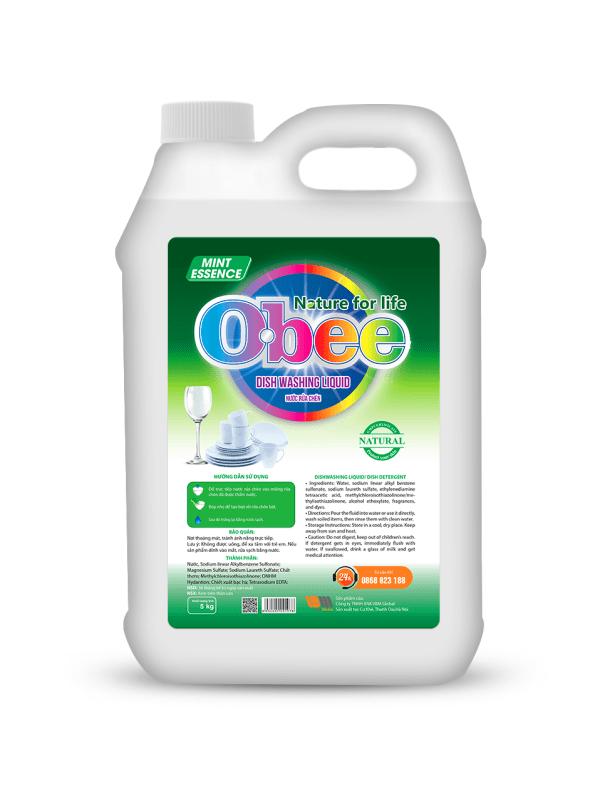 Nước rửa bát Obee hương bạc hà 5 kg
