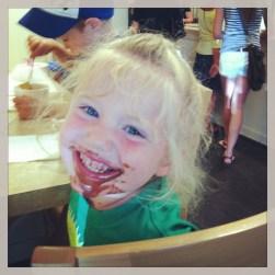 The bigger kiddos got some delish ice cream