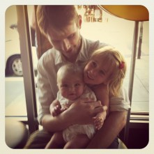 So excited for her birthday dinner - introducing Gigi & Papa John to conveyor belt sushi :)