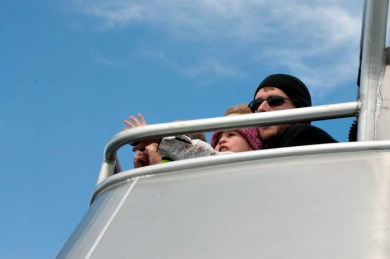 Evelyn, however, went up on the top deck. Often.