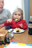 Just chowing down with my Goddaughter, Sophie...