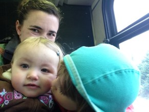 Lots of smooches on the bus the other day...