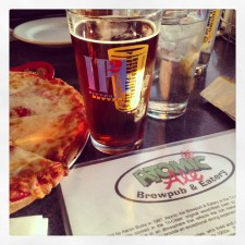 Cap to the night: Beer & Pizza. So happy.