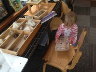 Claire had a great time, too - touching, shaking, pulling, and sharing all her finds.