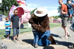 And a hug from Smokey the Bear. Even I was surprised by this happiness!