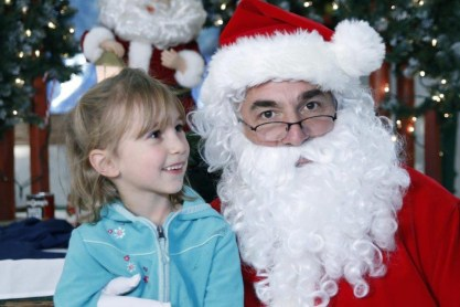 The family came to support me and got to spend some time with Santa, too!