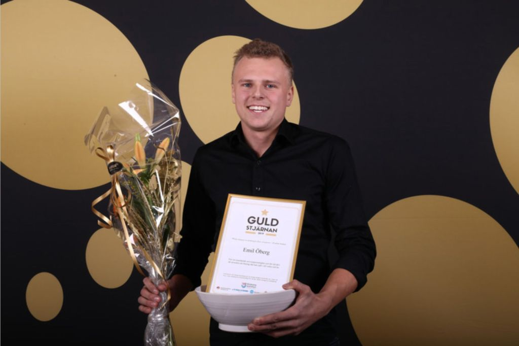 Emil Öberg - Guldstjärnan årets serviceperson i Krokoms kommun 2019